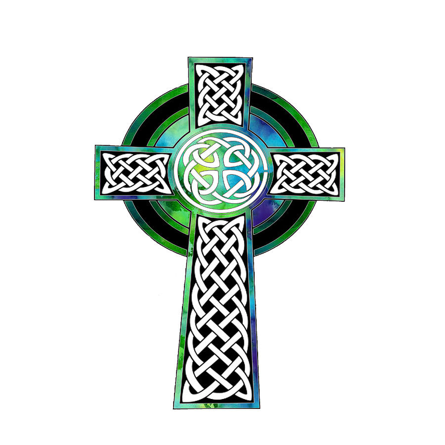 900x900 Watercolor Celtic Cross Art Painting By Kandy Hurley