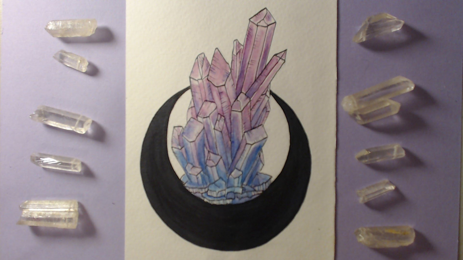 1920x1080 Crystal Watercolor Speed Painting