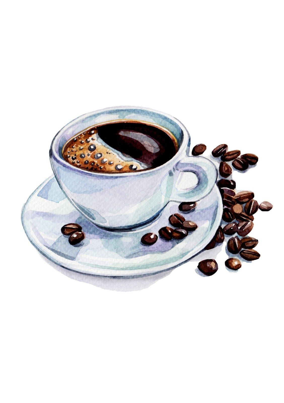 1128x1600 Pix For Gt Coffee Cup Watercolor Paintings Canvas Paintings
