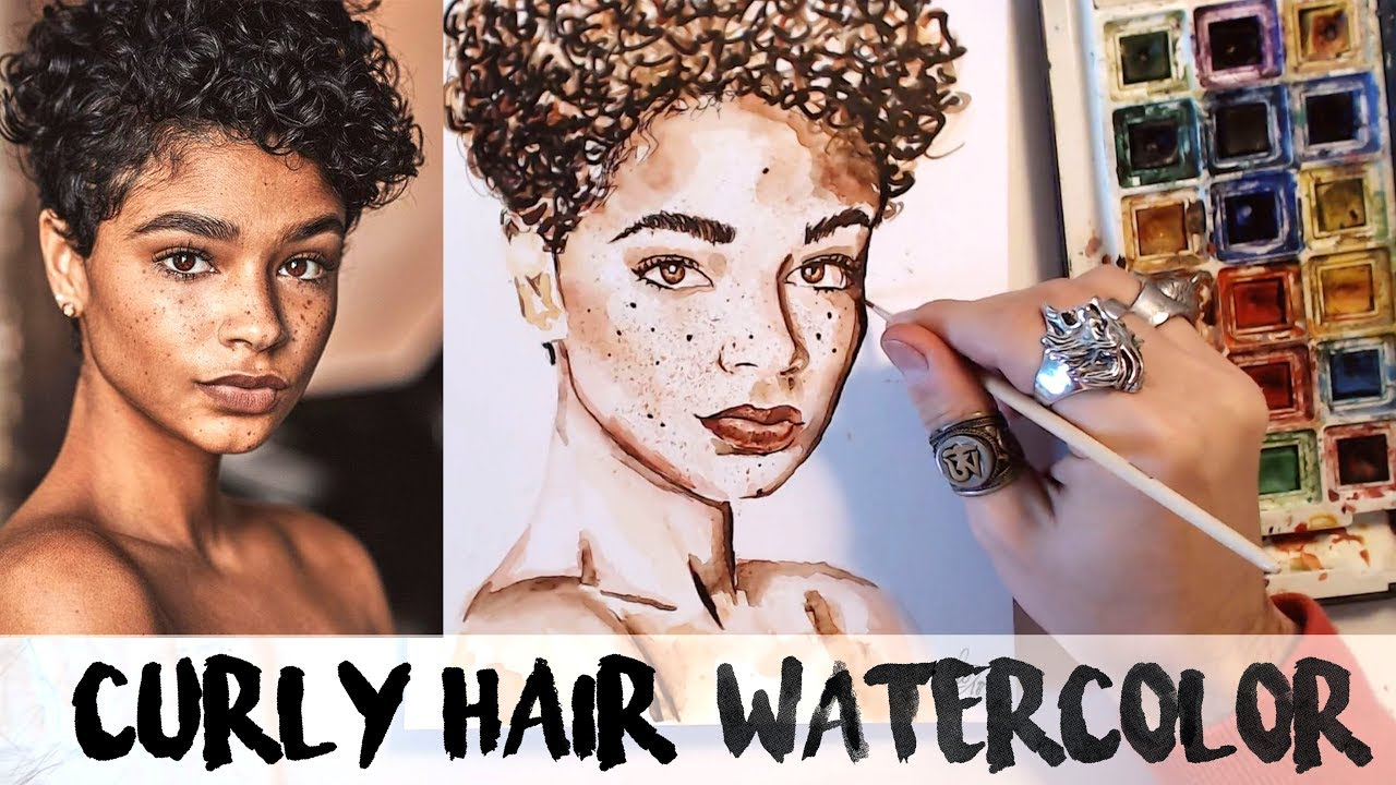 1280x720 How To Paint Curly Hair Watercolors
