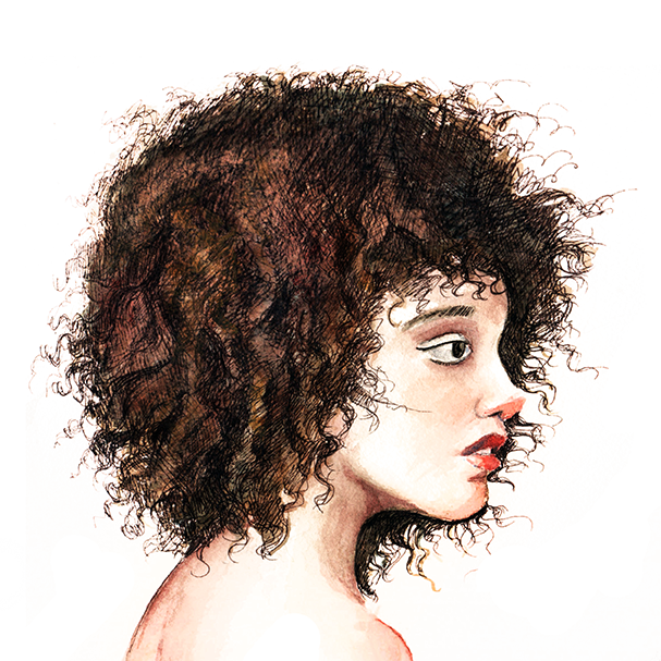 607x607 Natural Hair Curly By Themiceart