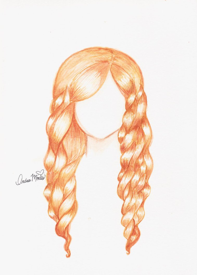 757x1056 Watercolor Curly Hair By Andianime