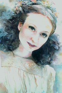 201x300 Watercolor Hair Jeannie Vodden Art