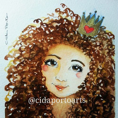 500x500 Watercolor Curly Hair Inspirations Watercolor And