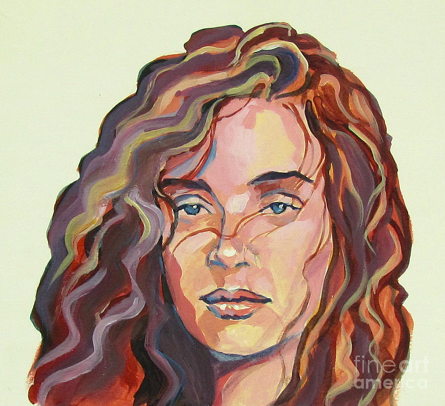 900x820 Wavy Hair Girl Painting By Eric Hansen