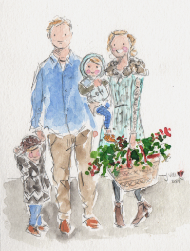 370x489 How Beautiful Are These Custom Watercolor Portraits From