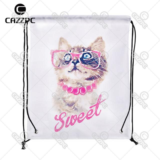 640x640 Hipster Watercolor Art Sweet Cute Cat Pattern Print Custom
