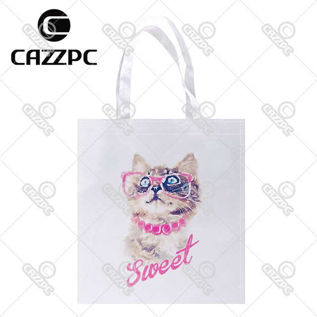 640x640 Hipster Watercolor Art Sweet Cute Cat Print Custom Non Woven