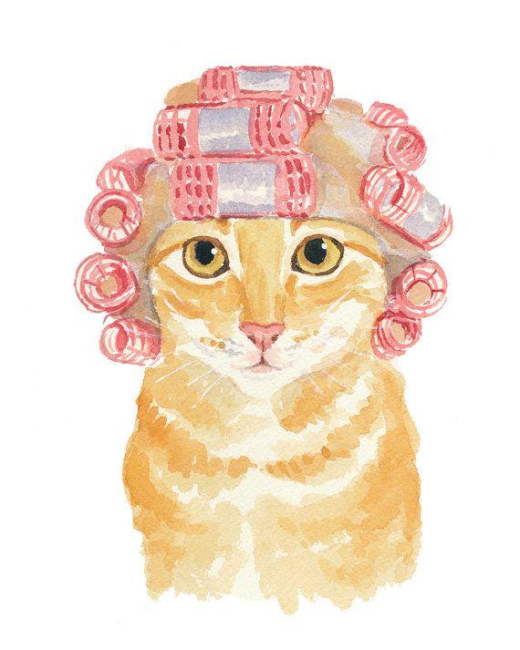 570x713 Orange Tabby Cat Print