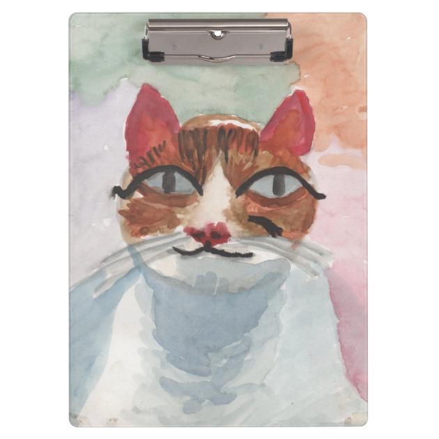 630x630 Cute Cat Watercolor Painting
