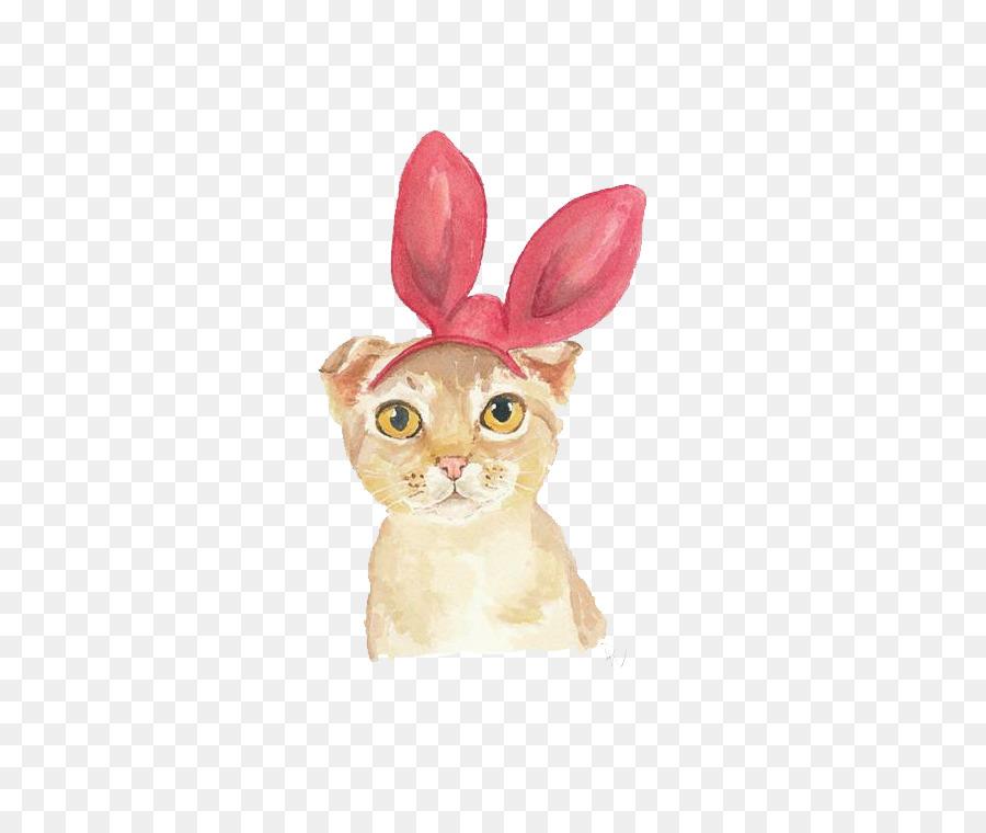 900x760 Cat Kitten Watercolor Painting Illustration