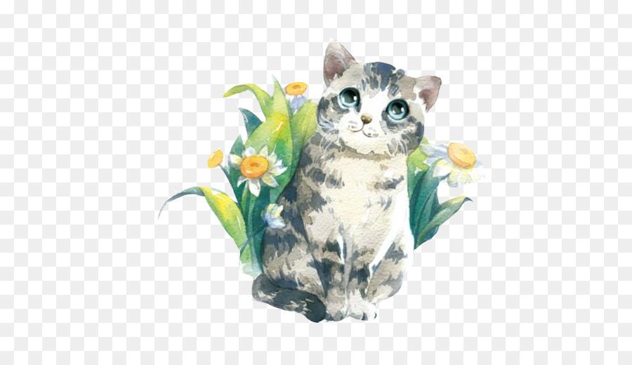 900x520 Cat Watercolor Painting Cuteness Illustration