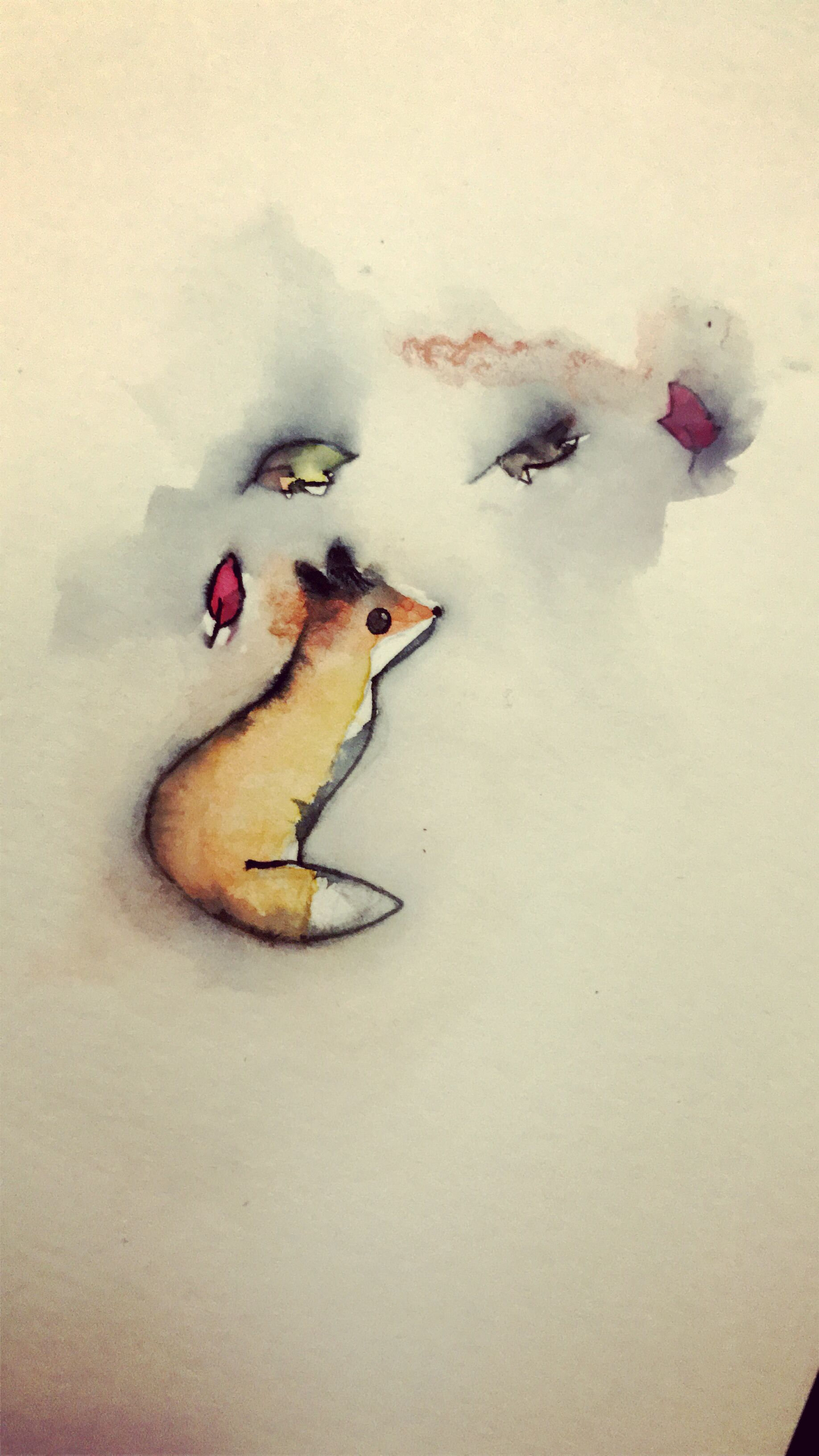 1836x3264 Cute Watercolor Fox Art!!!!! Watercolor Fox