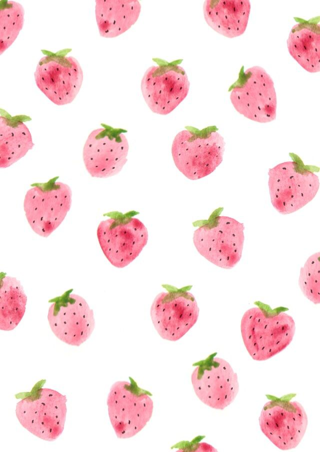 640x903 Free Desktop Wallpaper, These Little Watercolor Strawberries Are
