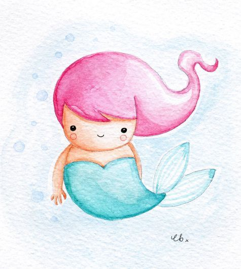 475x531 Image Result For Cute Watercolour Mermaid Rocks