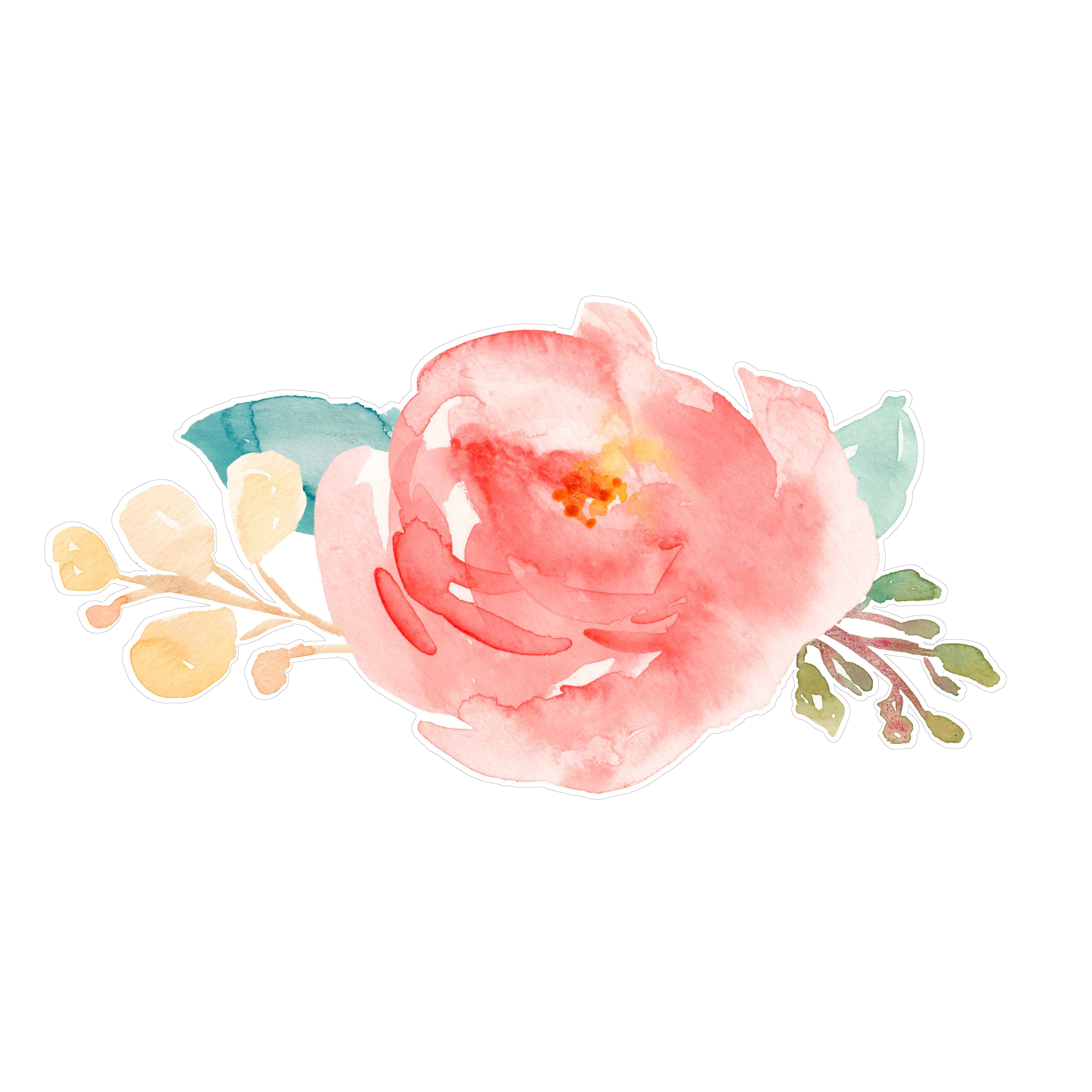 5100x5100 Cute Painted Flowers Svg Cut File With Cute Watercolor Flowers