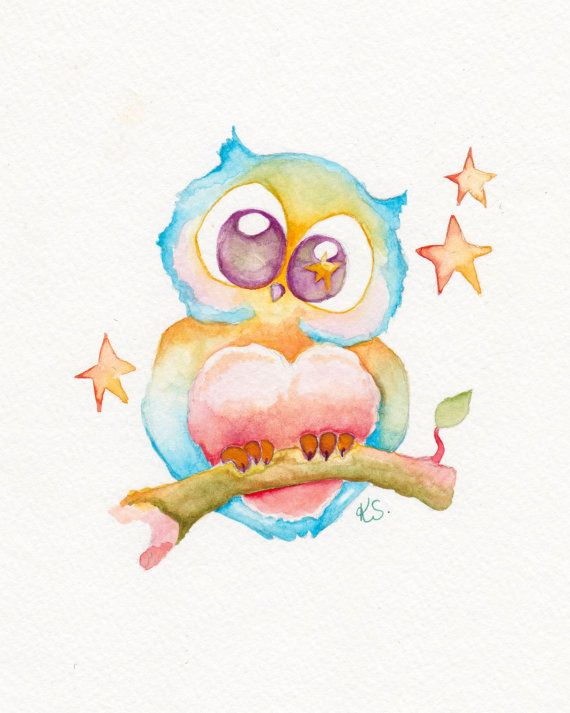 570x713 Cute Watercolor Paintings