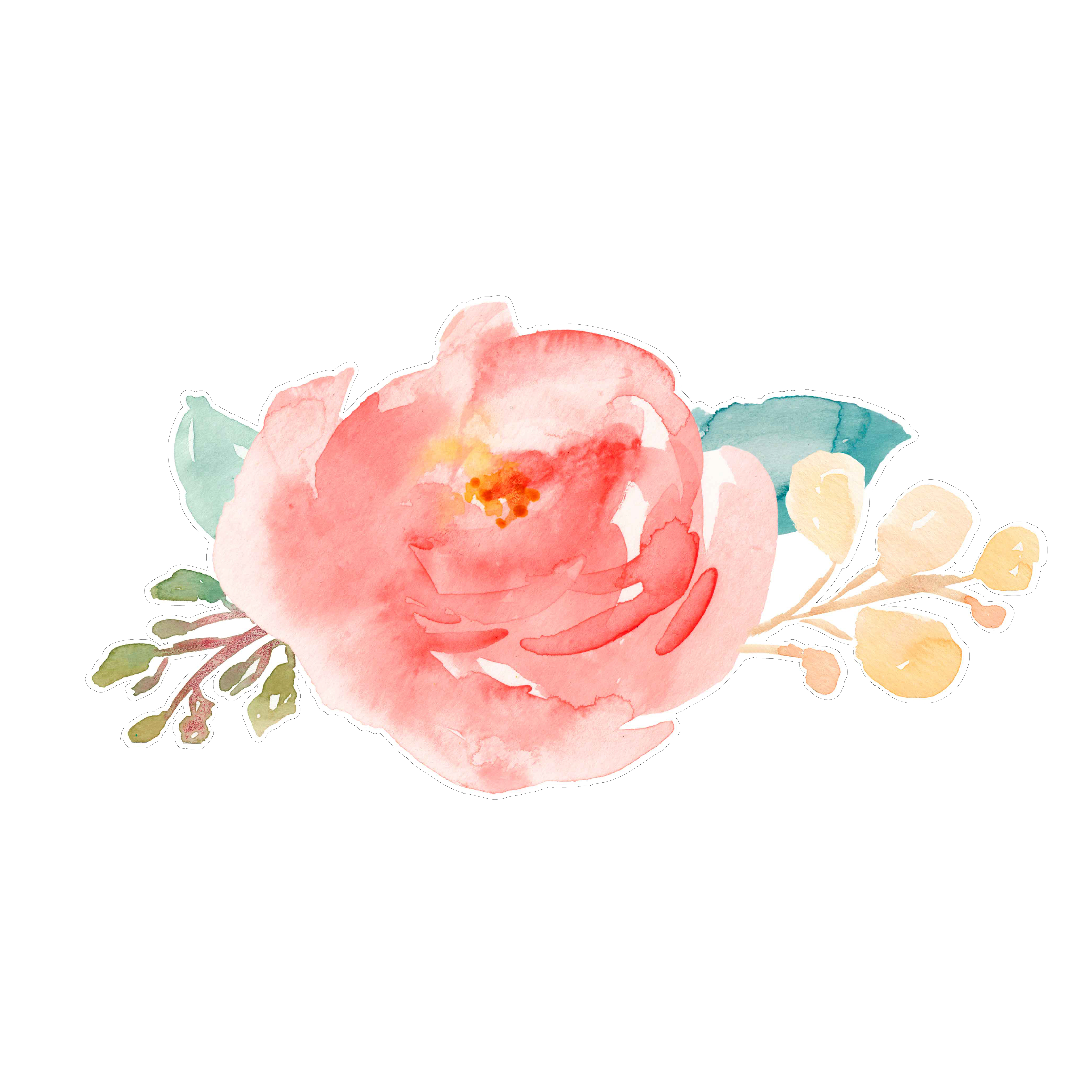 5100x5100 Watercolor Painting Flowers Images Cute Painted Flowers Svg Cut