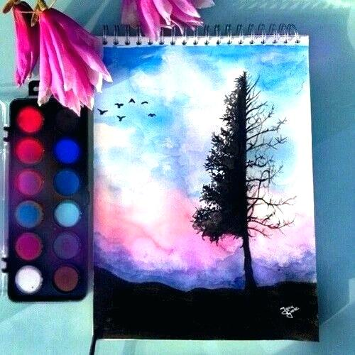 500x500 Watercolor Painting Ideas