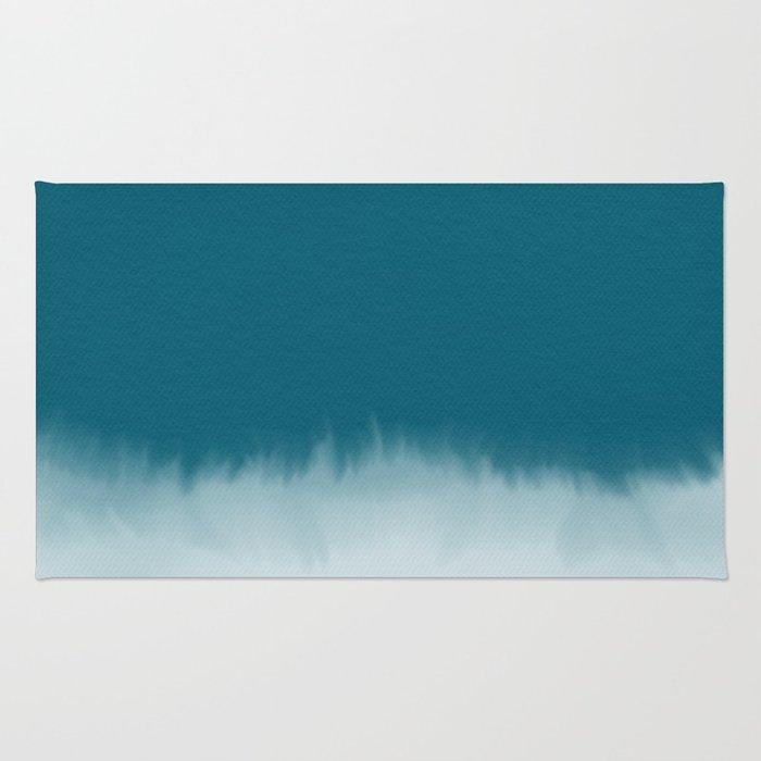 700x700 Dark Cyan Watercolor Rug By Sunnasavita Society6