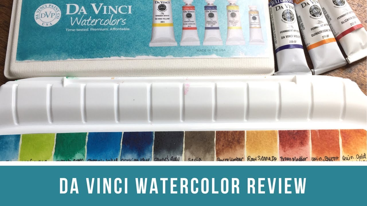1280x720 Da Vinci Watercolor Review Swatches, Painting Demonstration, And