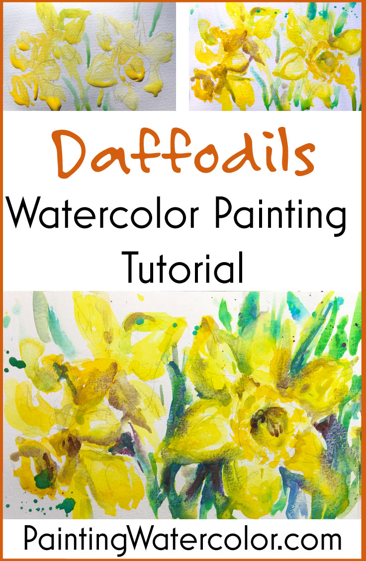 736x1128 Daffodils Watercolor Sketch Watercolor Painting Tutorial