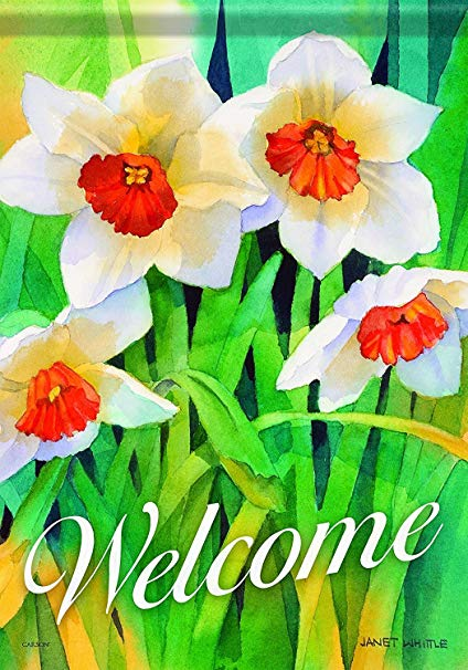 424x606 Aric Home Accents Garden Flag, Daffodil Watercolor