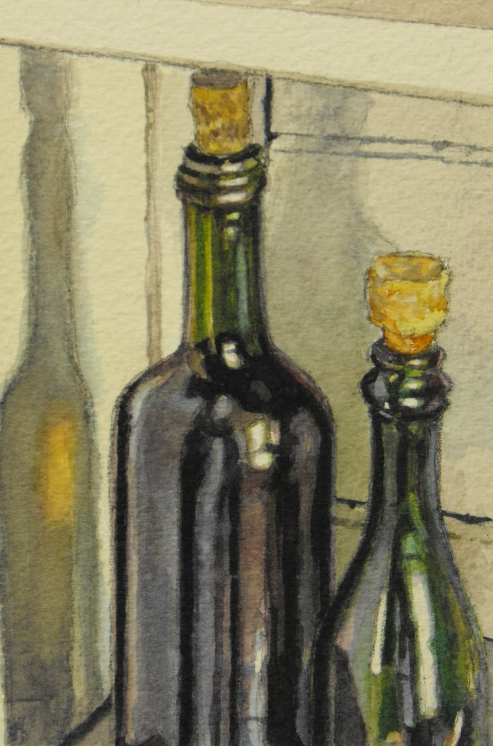 990x1500 Watercolor Painting Glass Bottles Watercolor Painting Glass