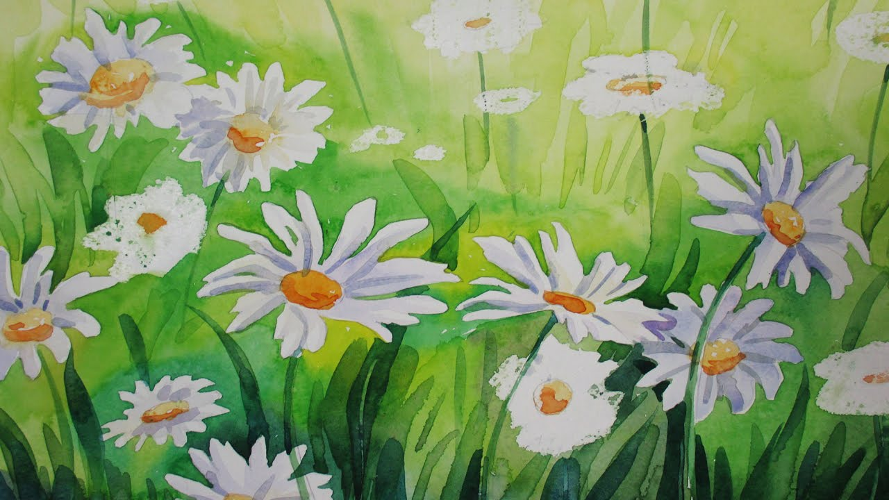 1280x720 How To Paint Daisies In Watercolor Step By Step Tutorial