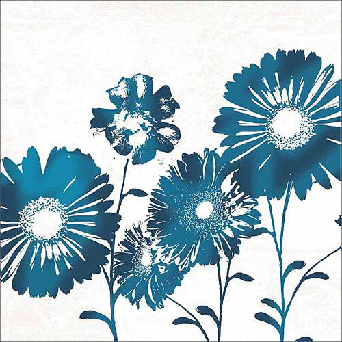 500x500 Vector Graphic Silhouette Daisy Flower Watercolor Floral