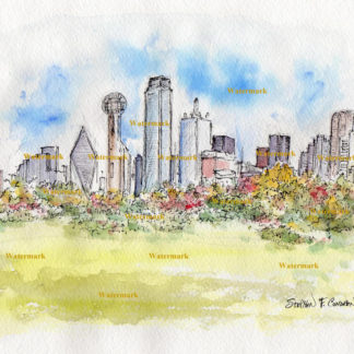 324x324 Dallas Skylines In Watercolor, Pen Amp Inks, And Color Pencil