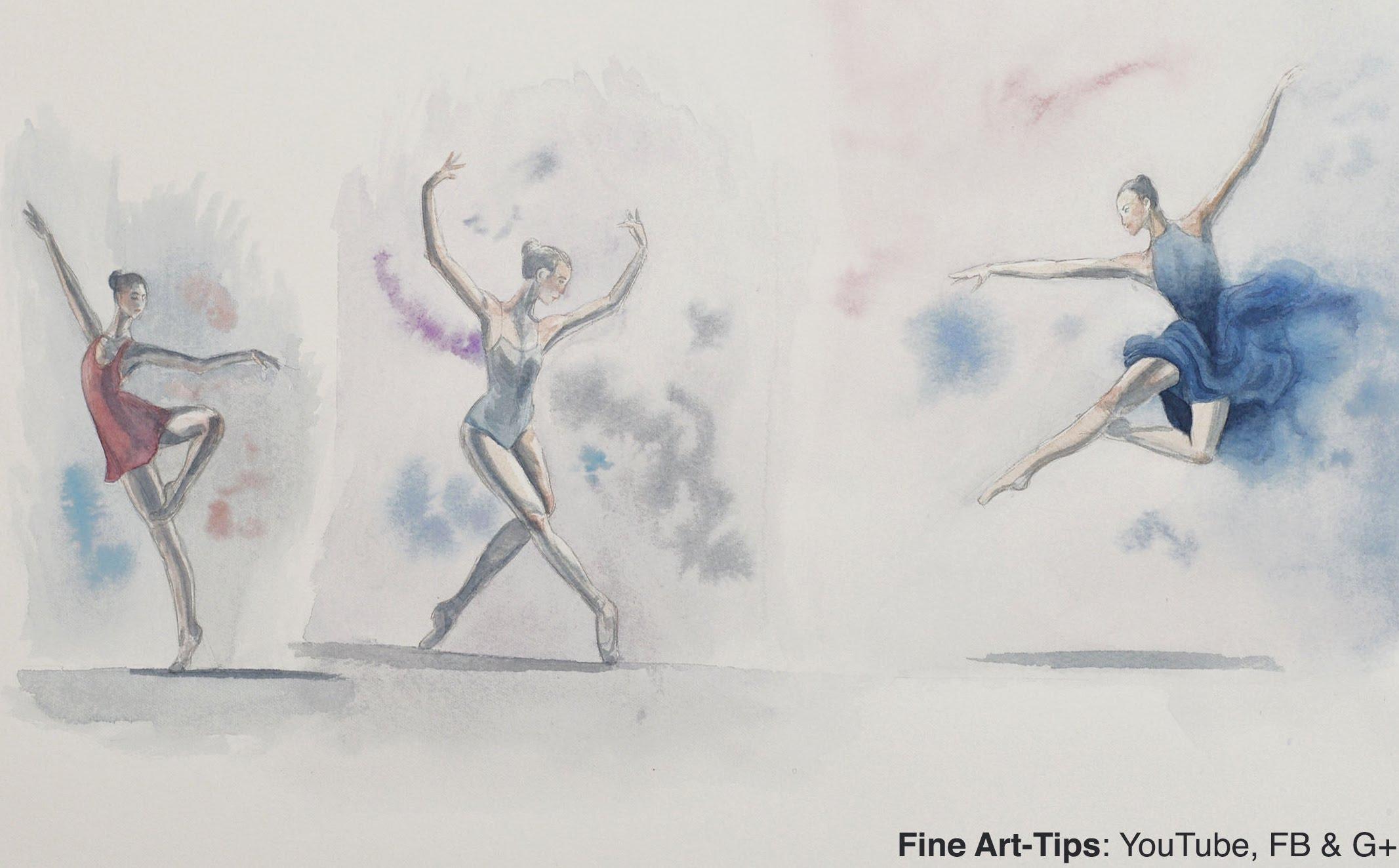 2133x1324 Ballerinas, How To Sketch Dancers In Watercolor