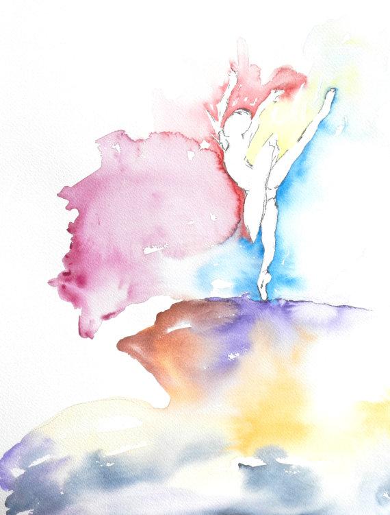 570x751 Ballet Dancer Watercolor, Dancer Art, Dance Watercolor, Ballerina