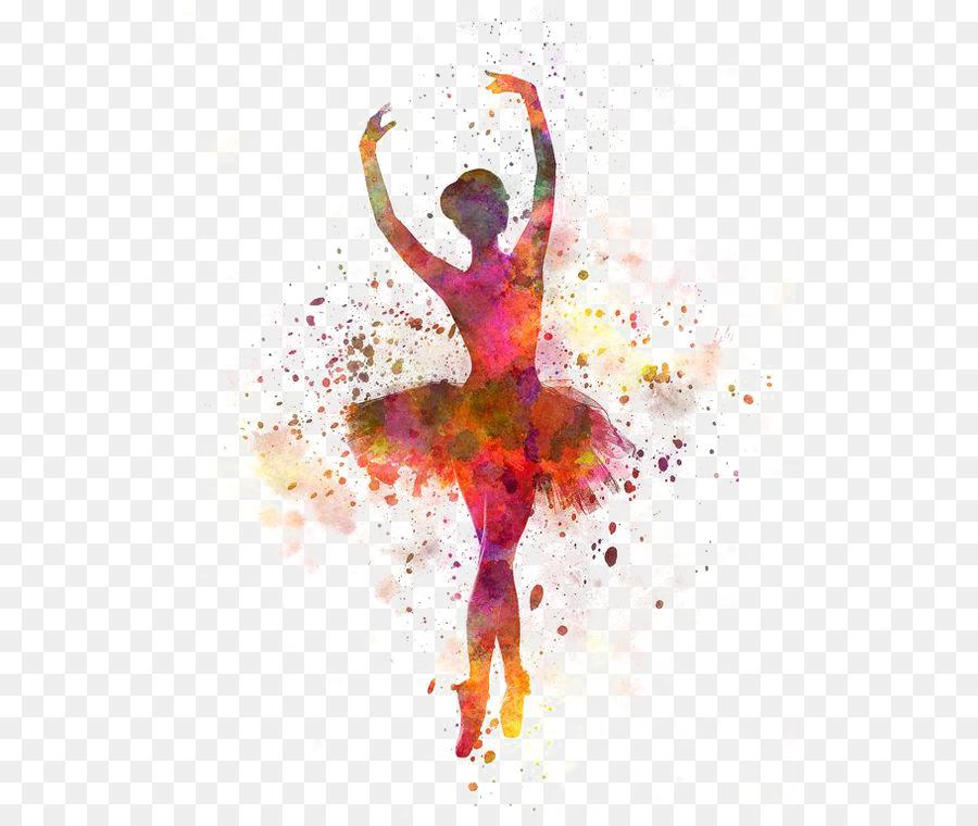 900x760 Ballet Dancer Watercolor Painting