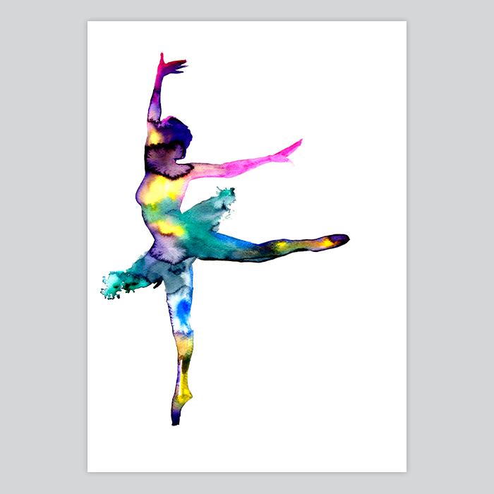 700x700 Dancer Watercolor Art Print