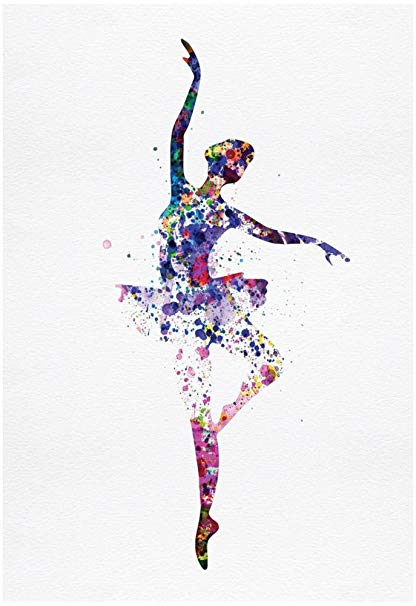 416x606 Ballerina Dancing Watercolor 2 Poster By Irina March