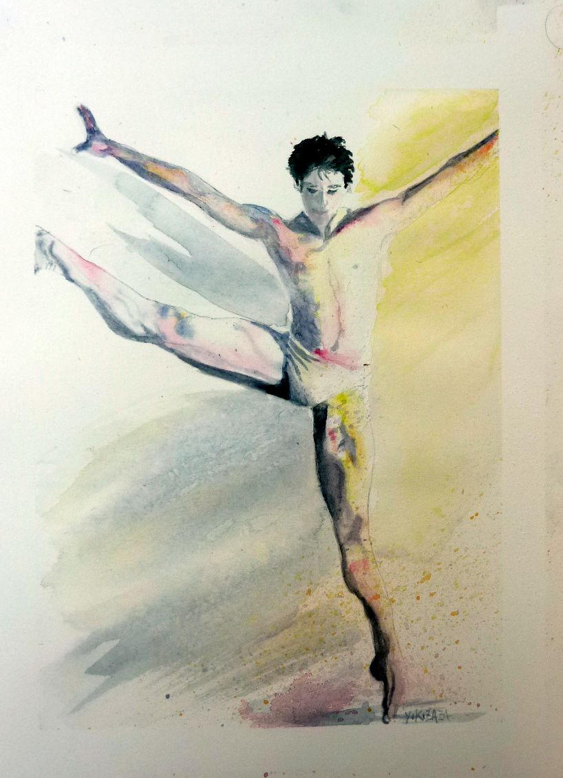 818x1129 The Dancer Watercolor Etsy