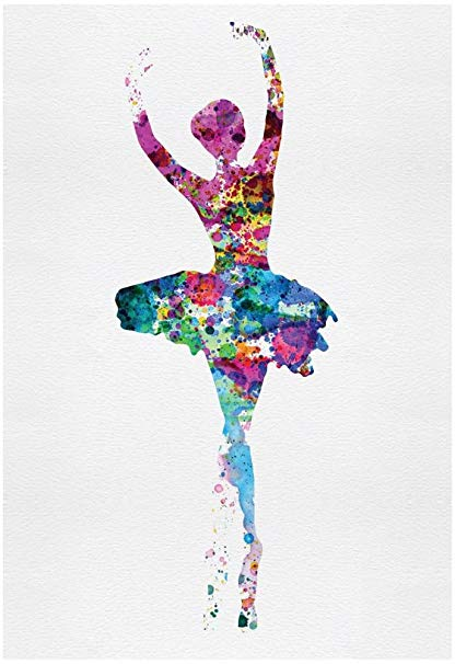 416x606 Ballerina Watercolor 1 Poster By Irina March 13 X 19in