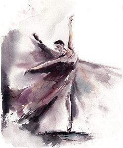 249x300 Ballerina Bliss Ii Painting By Sophia Rodionov