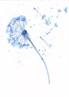 236x331 Dandelion Wall Poster Watercolor Poster By Watercolormary