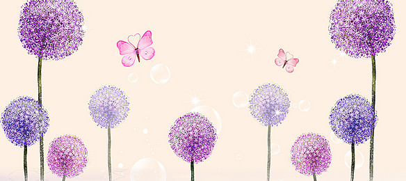 584x260 Watercolor Dandelion Background Photos, 4 Background Vectors And