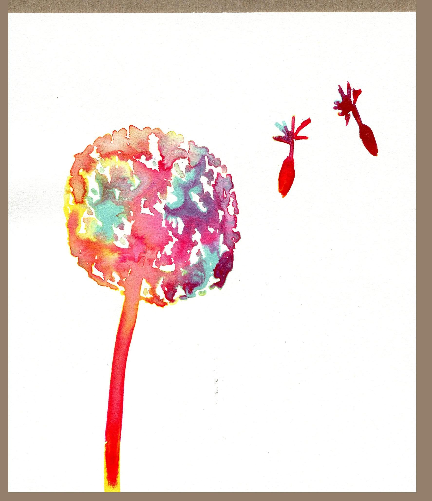 1774x2058 Easy Diy How To Paint A Watercolor Ink Dandelion