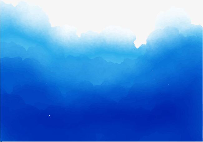 650x454 Dark Blue Watercolor Blooming, Vector Png, Blooming, Blooming