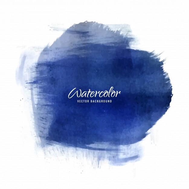 626x626 Elegant Dark Blue Watercolor Background Texture Vector Premium