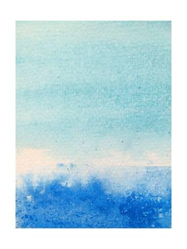 366x488 Light And Dark Blue Watercolor Background 2 Prints By Kathie