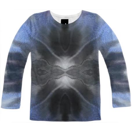 455x455 Shop Irena Orlov Dark Blue Watercolor Short Sleeve Workshirt Long