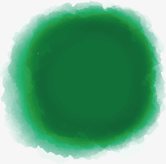 650x642 Dark Green Watercolor Blooming Brush, Green Vector, Watercolor