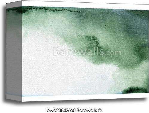 498x379 Canvas Print Of Dark Green Watercolor Background Barewalls