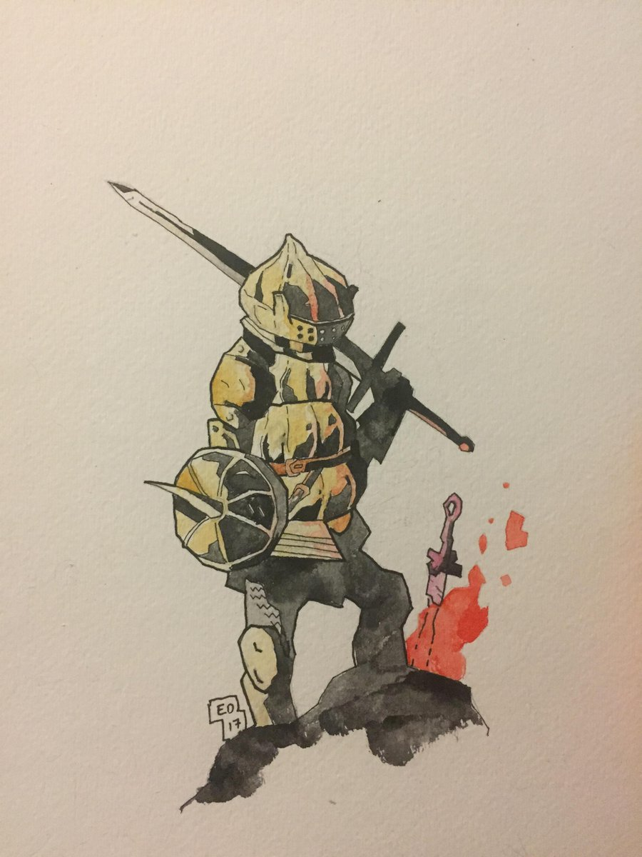 900x1200 Dark Souls On Twitter This Watercolor Painting By Edavid21 Is