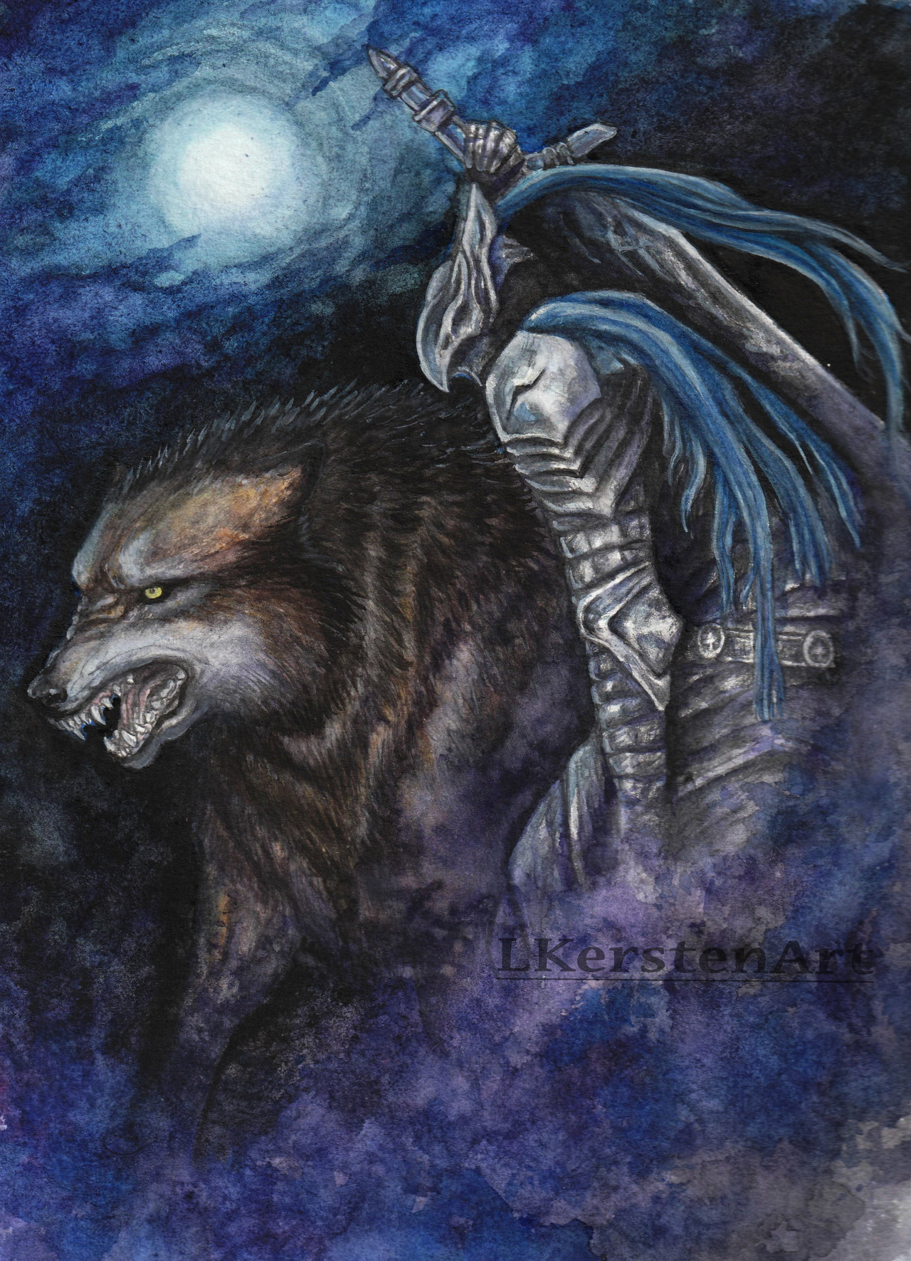 1280x1770 Lauren Kersten Any Dark Souls Out There Watercolor Painting Of